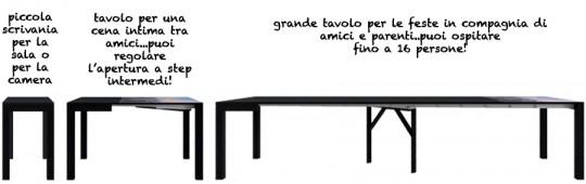 Arredamento casa con lg lesmo tavoli salvaspazio - Tavolo 14 posti ...